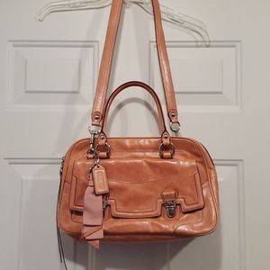 Coach Pushlock Poppy Leather Bag